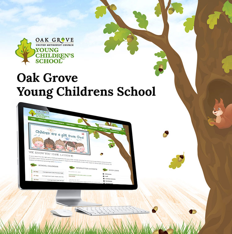 Oak Grove Children School web design service